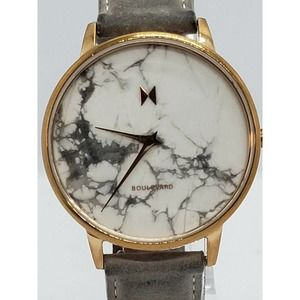 MVMT Beverly Marble Watch Rose Gold Band